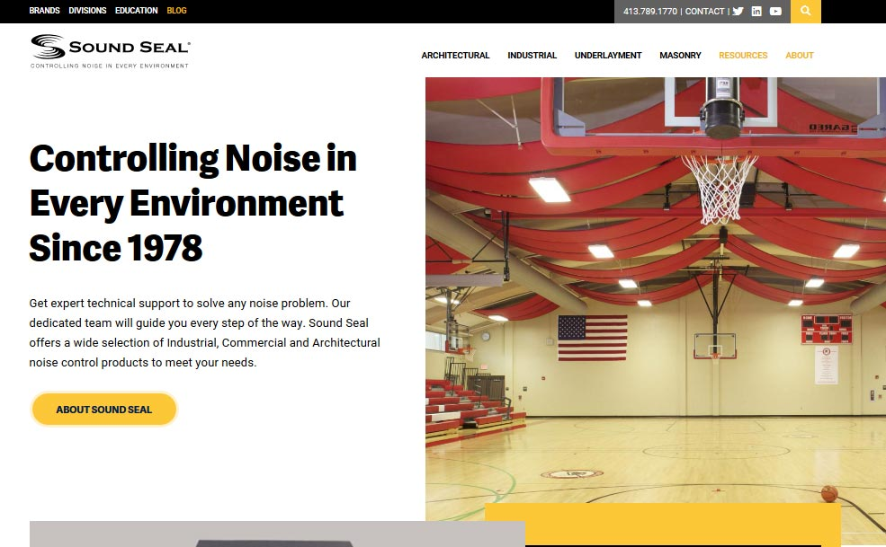 Sound Seal Introduces New State of the Art Website - Sound Seal